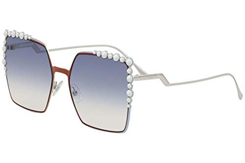 - Fendi Women's Square Sunglasses, Rust/Light Blue, One Size