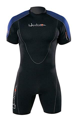 Henderson Thermoprene Men's 3mm Back Zipper Shorty Wetsuit, Black/Blue, X-Large ()
