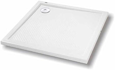 Plato de ducha rectangular: superficie antideslizante, extra plana ...