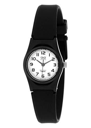 Reloj Q & Q Mujer Digital Negro Goma | Reloj Color Blanco | qvq87j004y