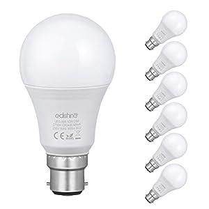 EDISHINE B22 LED Bulb, Dimmable A60 Bayonet Cap Light Bulbs, 10W 800LM LED Lights Bulbs, 60W Incandescent Bulb…