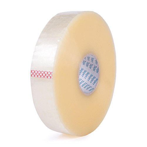 Chu's Packaging Supplies TIM210C72914 Super Tape Acrylic Carton Sealing Packaging Tape Machine Rolls, 2.0 mil, Clear, 3'' x 1000 yd. (Pack of 4) by Chu's Packaging Supplies