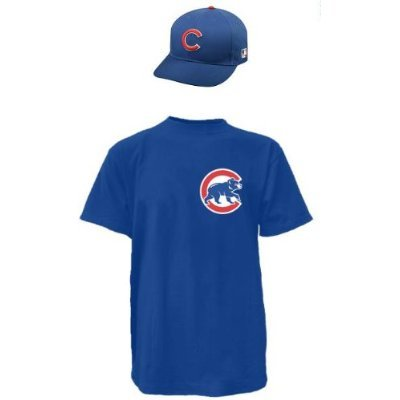 Chicago Cubs CAP & ADULT LARGE JERSEY MLB Licensed Replica Combo Set