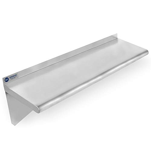Heavens TVCZ Wall Steel Stainless Commercial Kitchen Shelf Restaurant Rack Shelving 12'' x 36'' for Any Kitchen by Heavens TVCZ