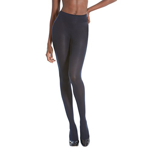 Gold Toe Women's Sheer to Waist Semi Opaque Perfect Fit Tights, 1 Pair, Navy, C by Gold Toe