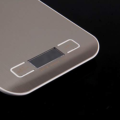 ZHANGYUGE Preup 5000G/1G 5Kg LCD electrónica Báscula Digital de Cocina Dieta alimentaria Balanza Postal de medición de Peso de Acero Inoxidable: Amazon.es: ...