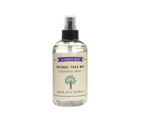 Mind Over Lather 100% Natural Yoga Mat Cleaning Spray | Larger 8 OZ Size |Works...