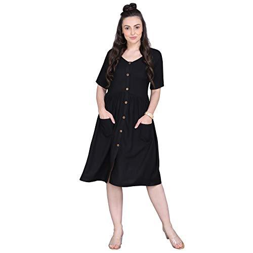 ORLIN Women Pocket Western Dress