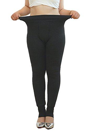 Century Star Women Plus Size Thermal Thick Tights Basic Leggings Comfort Pants Grey M(US Size (Halloween 3 Blu Ray Australia)