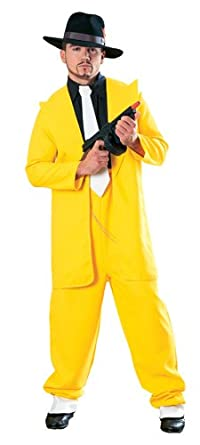 1940s Men's Costumes: WW2, Sailor, Zoot Suits, Gangsters, Detective Deluxe Yellow Zuit Suit Mens Halloween Costume $32.88 AT vintagedancer.com
