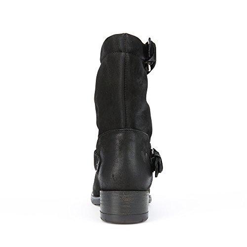 Felmini - Zapatos para Mujer - Enamorarse con Raisa 9102 - Botines Cowboy & Biker - Genuine Nobuck - Negro - 0 EU Size