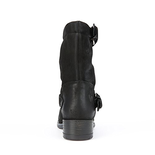 0 Nobuck Negro con Mujer 9102 Raisa Biker Cowboy Zapatos Genuine Botines EU Enamorarse Felmini para Size amp; RAU6q7F