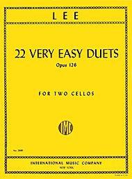 Lee, Sebastian - 22 Very Easy Duets, Op 126 - Two Cellos - International Music Co