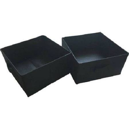 mainstays halfsize collapsible storage bins set of 2 black