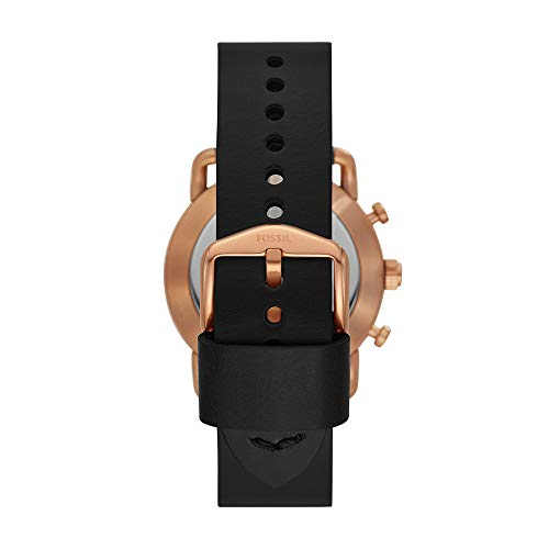 Fossil Q Men's Hybrid Smartwatch Stainless Steel Analog-Quartz Watch with Leather Strap, Black, 22 (Model: FTW1176 by Fossil (Image #2)