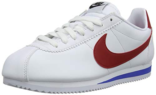 Nike Women's Cortez Leather Shoe, White/Varsity Red/Varsity Royal, 7.5 ()