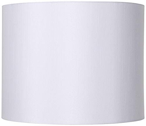 Classic White Drum Lamp Shade Modern Hardback Harp Included 14x14x11 (Spider) - Brentwood (Drum Shades Lamp)