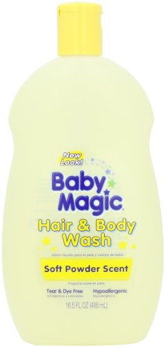 Baby Magic Hair and Body Wash, Soft Powder Scent, 16.5 Ounce Bottles (Pack of 6), Health Care Stuffs