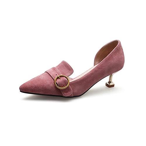 Mms06654 Para Piel Rosa De Zapatos Mujer 1to9 4zqdBwB