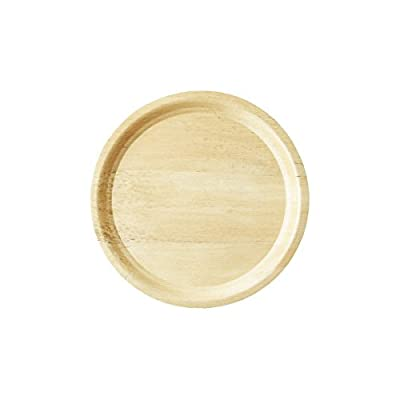 Bamboo Studio 13-1/4-Inch Round Tray, 2-Pack, Natural Color