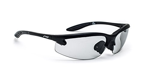 Safety Glasses with Transitions Lenses in Pewter Wraparound - Transition Glasses Safety