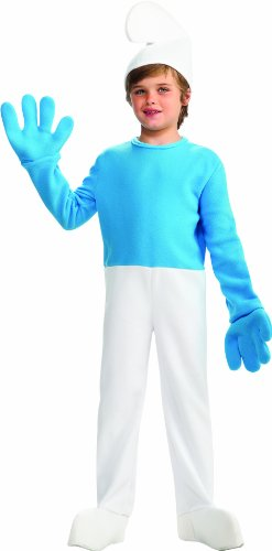 Smurfs Movie Deluxe Smurf Costume,Small 4-6