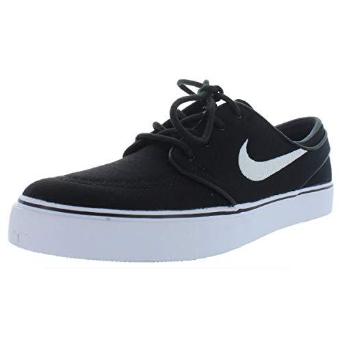 (Nike Mens SB Zoom Stefan Janoski CNVS Canvas Skate Shoes Black 9 Medium (D))