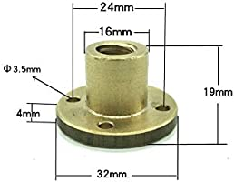 for 3D Printer and CNC Machine Z Axis Acme Thread, 2mm Pitch, 1 Start, 2mm Lead ReliaBot T10 Lead Screw Brass Nut