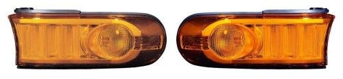 Go-Parts - PAIR/SET - OE Replacement for 2007-2011 Toyota FJ Cruiser Turn Signal Lights Assemblies/Lens Cover - Front Left & Right (Driver & Passenger) Side TO2531149 TO2530149 81131-35460 (Turn Cruiser Fj Cover Signal)
