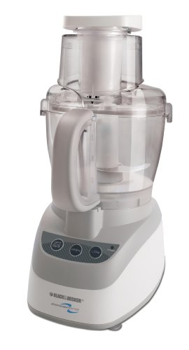 Black & Decker FP2500 PowerPro Wide-Mouth 10-Cup Food Processor, White