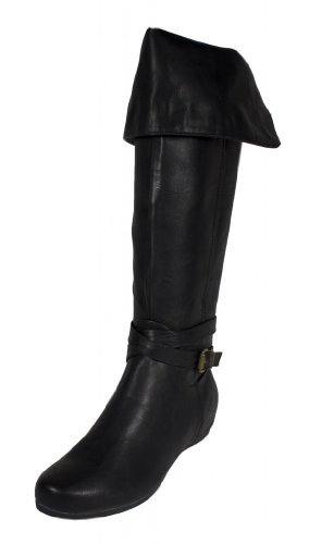 Mona! By Soda Foldable Mid Calf to Knee High Strap Wrapped H