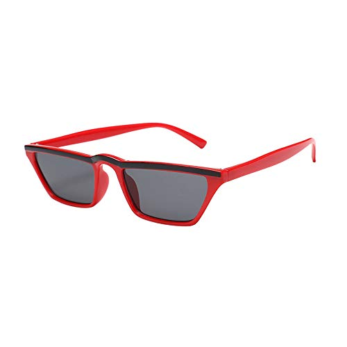 Newest Women Eyeglasses Retro Quadrate Lens Cateye Frame Shades Acetate Frame UV Glasses Sunglasses Outdoors (A)