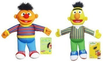 Set of 2 Playskool Sesame Street Bert and (Bert Plush)