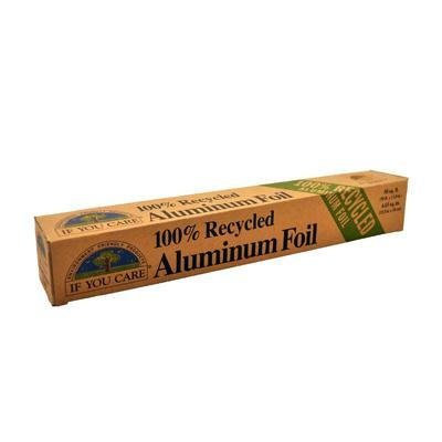 IF YOU CARE 100% Recycled Aluminum Foil Roll, 50-Foot Roll (Pack of 4)