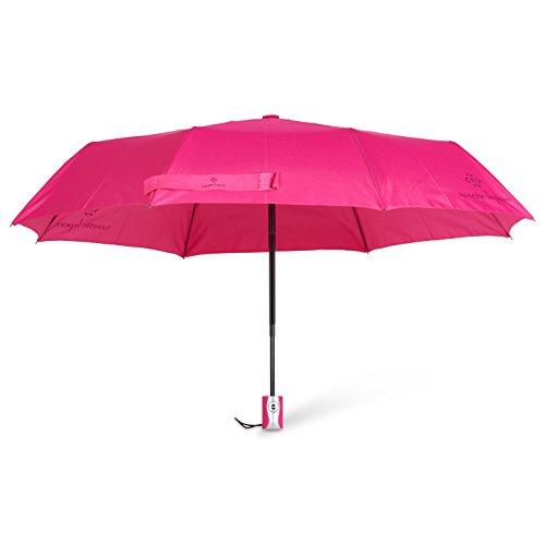 Nanette Lepore Auto Open/Close Fashion Umbrella (Bright Pink)