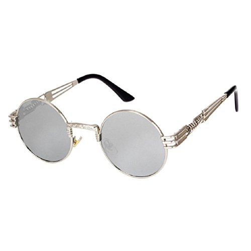 Ikevan 2017 Fashion Retro Men Women Round Square Vintage Mirrored Sunglasses Eyewear Outdoor Sports Glasse - Face Diamond Eyeglasses For Shape