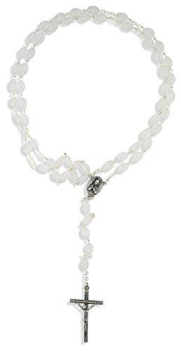 Vatican Imports Beautiful Catholic Rosary with Swirl Glass Beads ()
