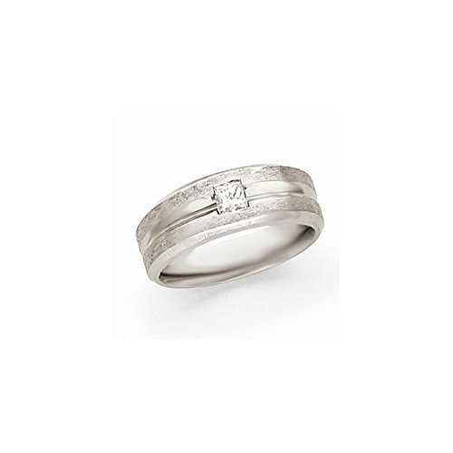 JewelrySuperMart Collection 1/2 CT 14k White Gold AA Diamond Men's Band. 0.45 ctw. Size 11