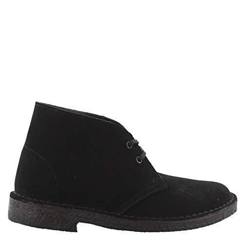 CLARKS Women's Desert Boot, Black, 10 B-Medium