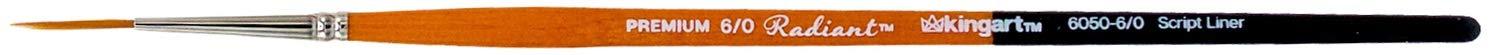 KingArt 6050-6/0 Premium Radiant Taklon Paint