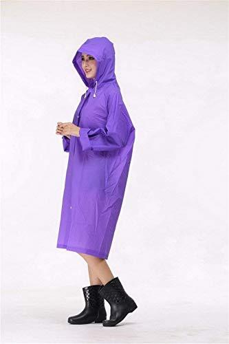 Unisex Bicycle Poncho Al Chubasquero Rain Libre Raincover Violett Con Modernas Capucha Aire Impermeable Haidean Casual gnxwCdpC