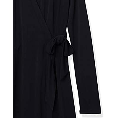 Brand - Lark & Ro Women's Signature Long Sleeve Wrap Dress: Clothing