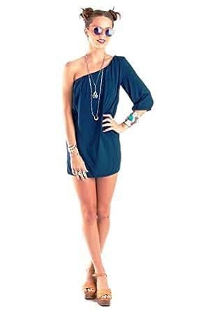 Hipster Skd1n-l Cocktail Dress For Women - L, Dark Blue