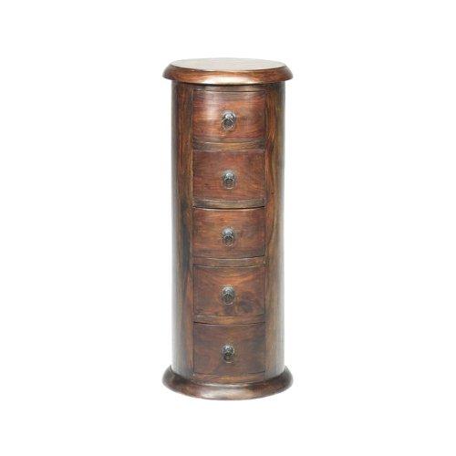 Jali Sheesham Oval Drum Chest - Indian Wood Furniture Amazon