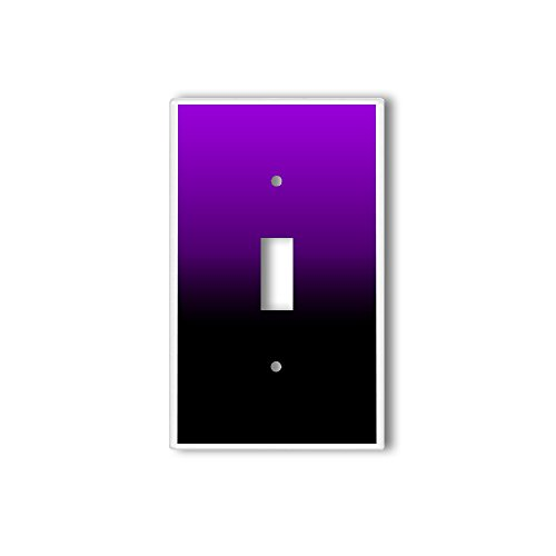 Light Switch Single Wall Plate Cover By InfoposUSA Purple Black Ombre