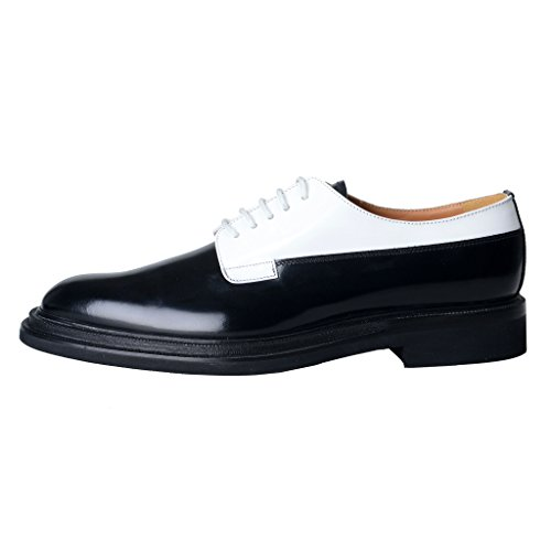Oxfords Leather Polished amp;White Women's Church's Black English Shoes Shoes XwqUqInfZ