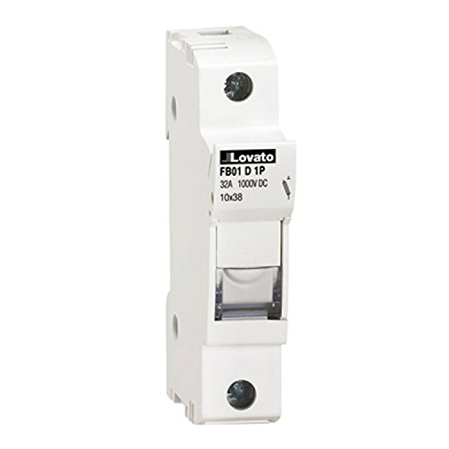 Pole Mounted Terminal (ASI AFB01D1P DIN Rail Mounted Midget Fuse Holder, 1 Pole, 10 x 38 mm, 18 to 8 AWG, 32 Amp, 1000 VDC, PV Rated)