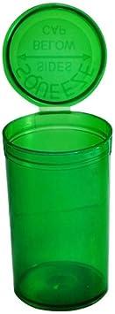 105x 19DRAM/80ml Pop Top Squeeze botellas Container Viales RX–translúcido verde aprobado por la FDA–a prueba de niños plástico de grado médico (pp-tr-gr-105)