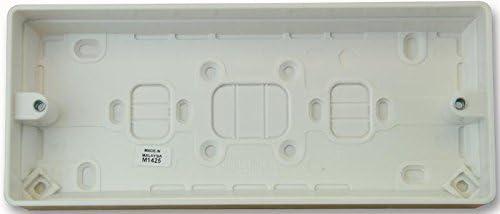 3 enchufe superficie caja - 30 mm de profundidad: Amazon.es ...