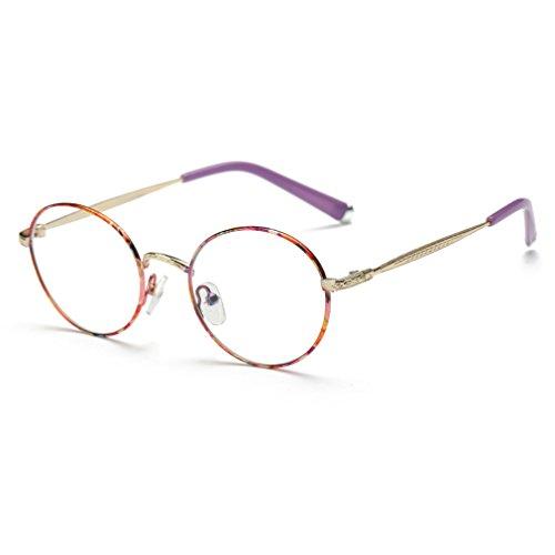 Rnow Premium Unisex Retro Round Frame Eyeglasses Fashion Optical - Spectacle For Girls Frames